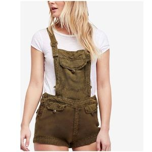 NWT Free People Expedition Short Overalls